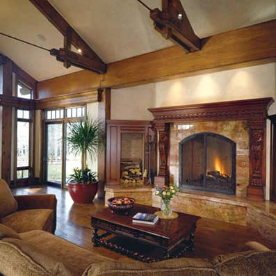Timber Frame Great Room 8
