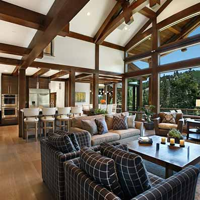 Timber Frame Park City Great Room