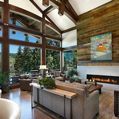 Park City Timber Frame Great Room