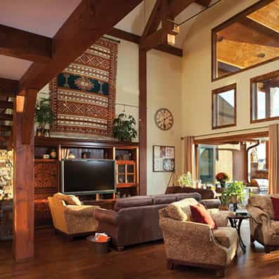 Timber Frame Great Room 21