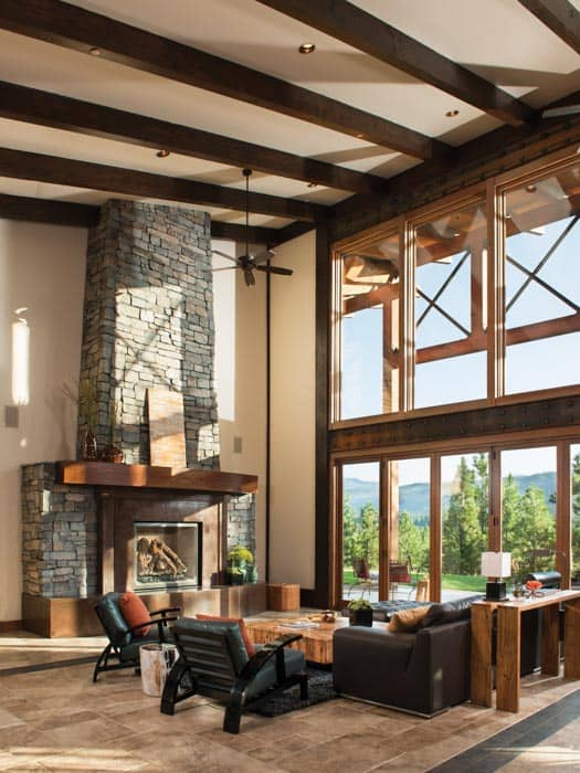 Great room photo gallery log homes timber homes for Timber frame great room