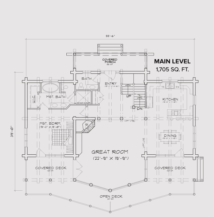 Island Park Main Floor Plan