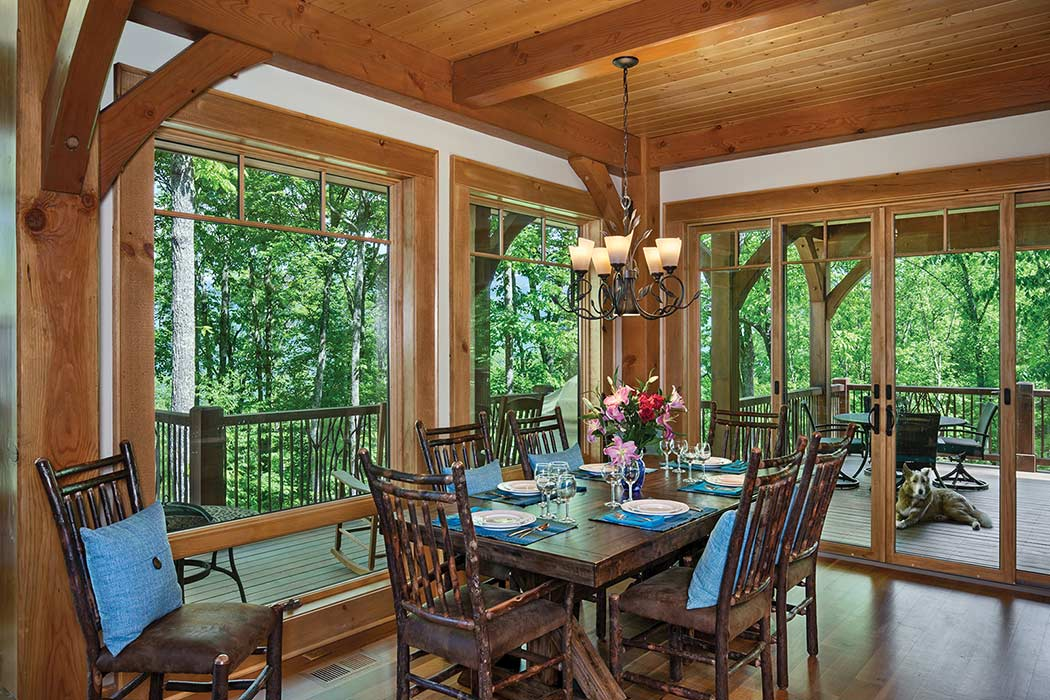 Jackson County timber dining room