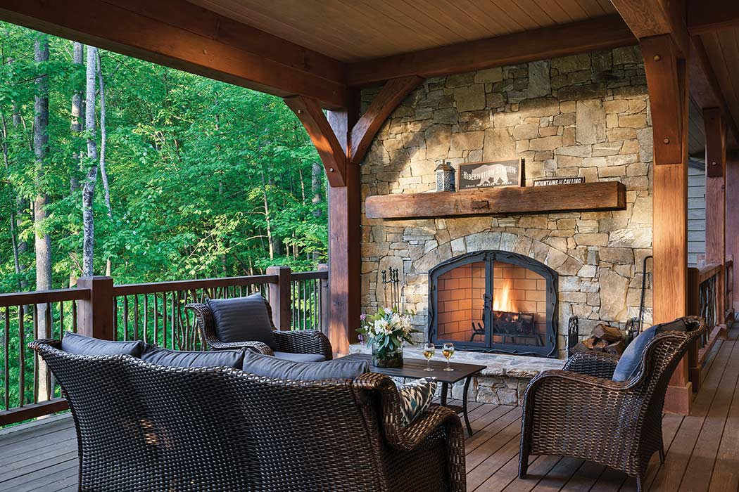 Jackson County deck fireplace