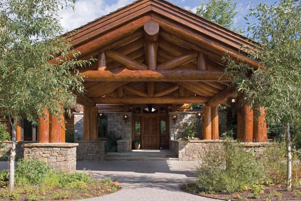 Teton county wyoming log home precisioncraft log and for Luxury log home pictures
