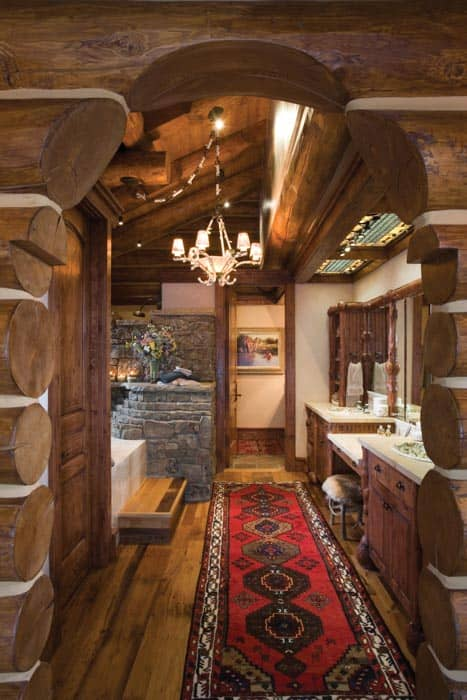 Teton County Wyoming Log Home Precisioncraft Log And