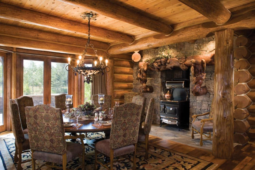 teton county wyoming log home precisioncraft log and timber homes