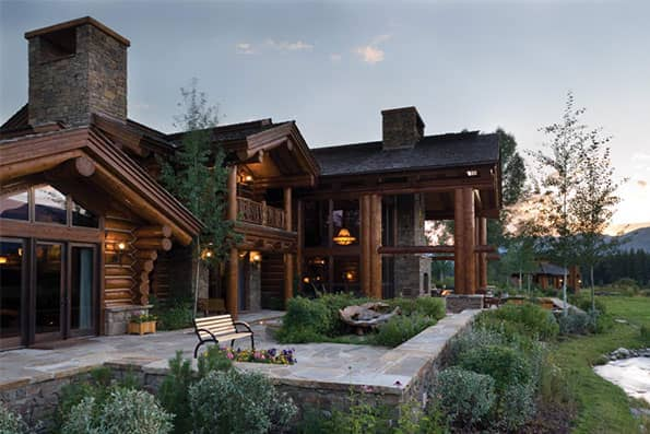 Handcrafted log home Teton County Residence
