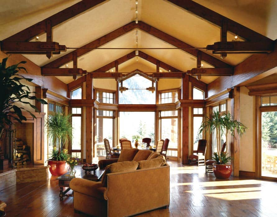 Ketchum Idaho Timber Home By Precisioncraft Log And