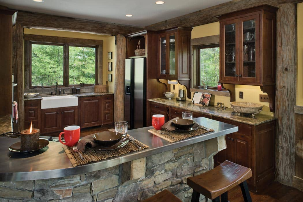 ... Handcrafted Log Kitchen ... Awesome Design