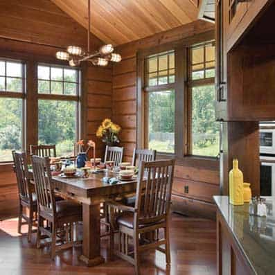Hybrid Log and Timber Dining Room