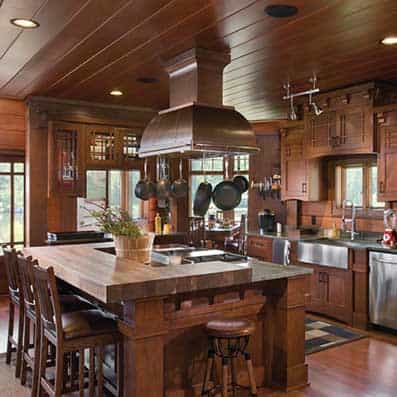 Hybrid Log and Timber Kitchen