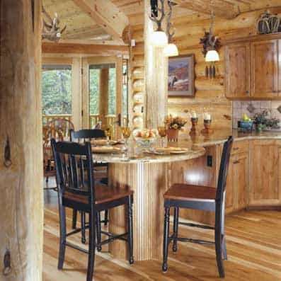 Milled Log Kitchen