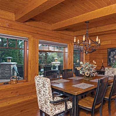 Hybrid Log and Timber Dining Room 2