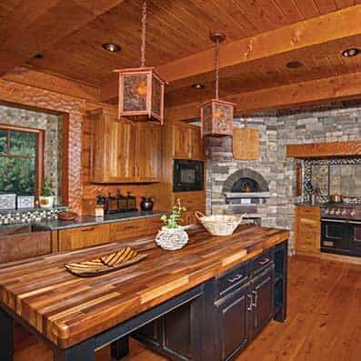 Hybrid Log and Timber Kitchen 2