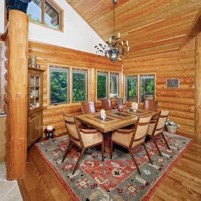 Milled Log Dining Room 2