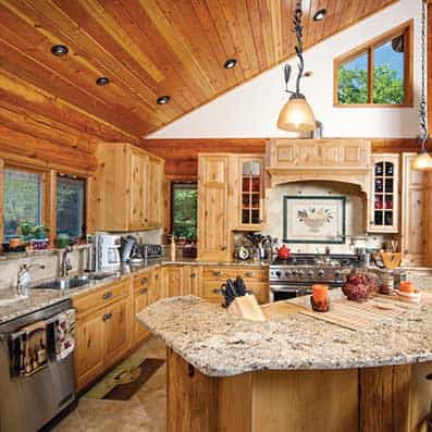 Milled Log Kitchen 2