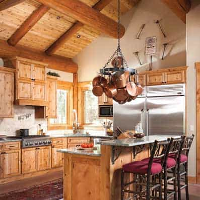 Handcrafted Log Kitchen 2