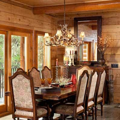 Milled Log Dining Room 3