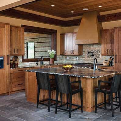 Milled Log Kitchen 4