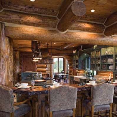 Handcrafted Log Kitchen 3