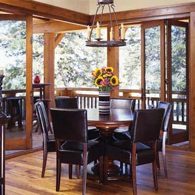 Timber Frame Dining Room 2