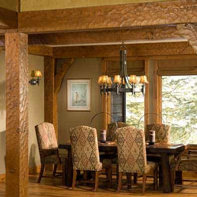 Timber Frame Dining Room 3