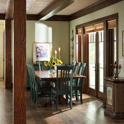 Timber Frame Dining Room 4
