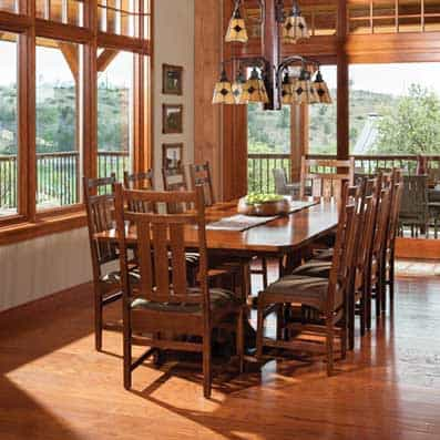 Timber Frame Dining Room 5