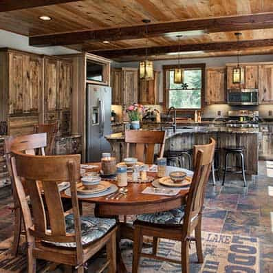 Timber Frame Dining Room 7