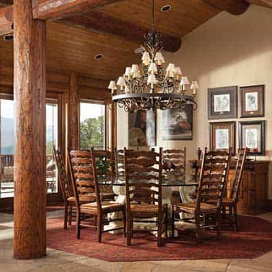 Milled Log Dining Room 8