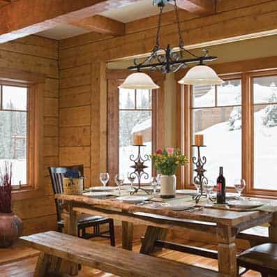 Hybrid Log and Timber Dining Room 7
