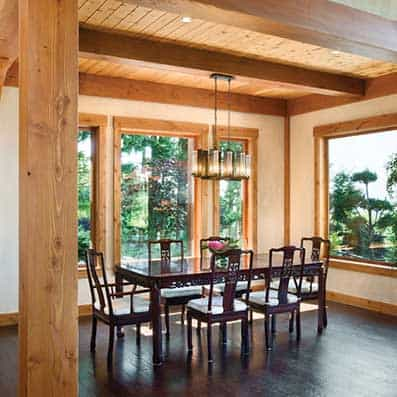 Timber Frame Dining Room 11