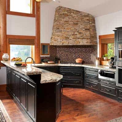Hybrid Log and Timber Kitchen 8