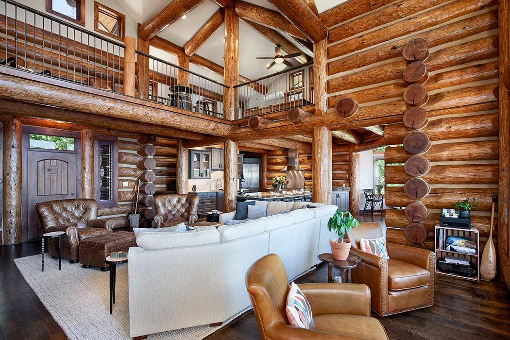 Lake Gaston Handcrafted Log Home Gallery