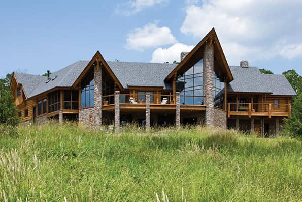 Log home Moorefield Residence