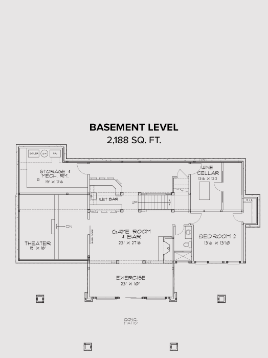 New Meadows Basement Floor Plan
