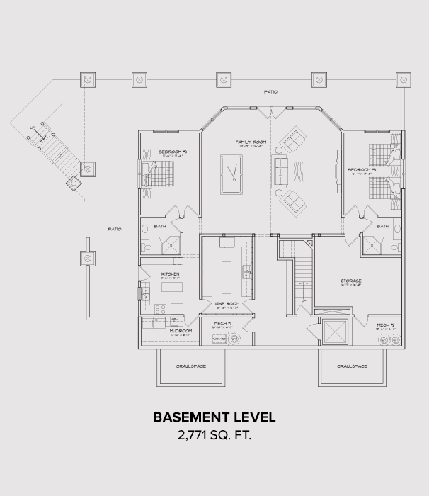 Norwood Basement Floor Plan