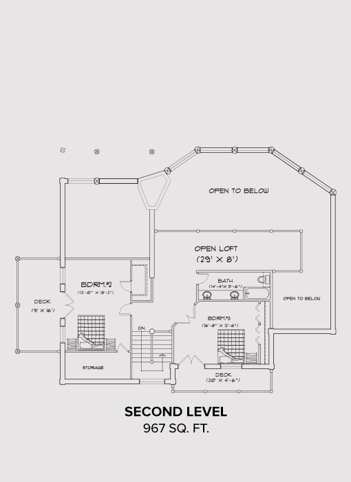 Noxon Second Floor Plan