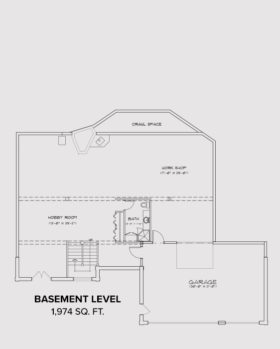 Noxon Basement Floor Plan
