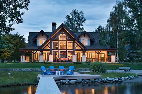 Okanogan Timber Frame Home 08-044