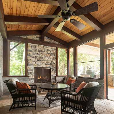 screen porch timber frame