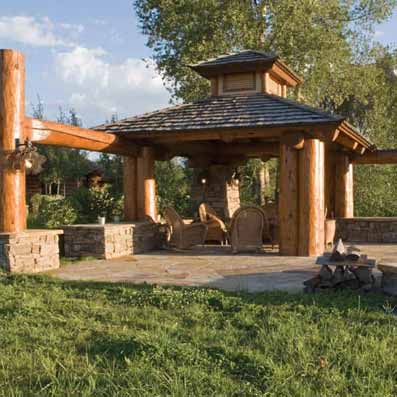 handcrafted outdoor structure