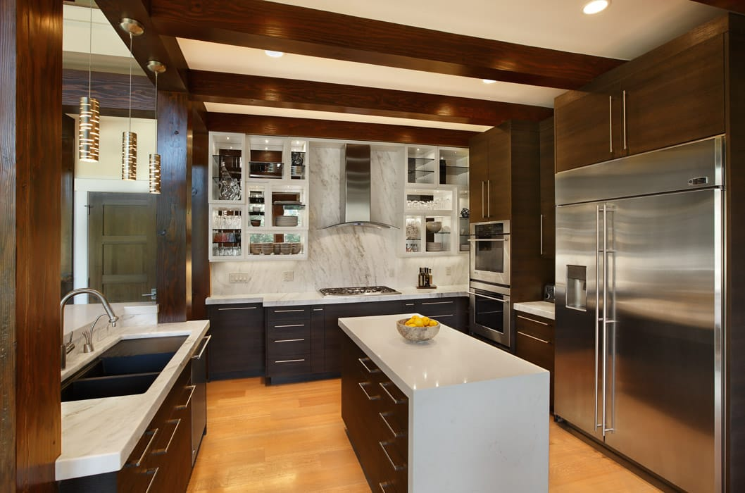 Modern Timber Home Kitchen
