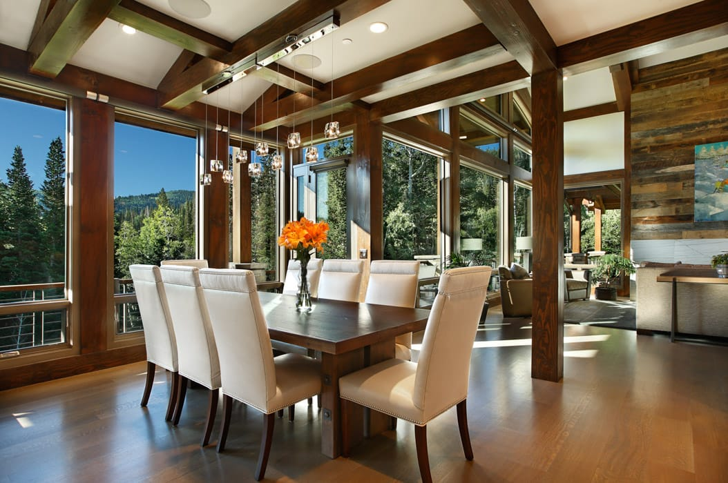 Ordinaire Modern Timber Home Dining Room