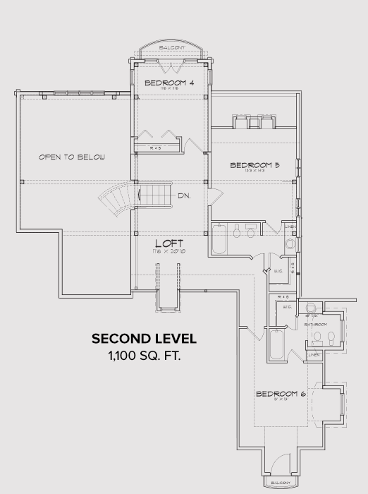 Pocatello Second Floor Plan