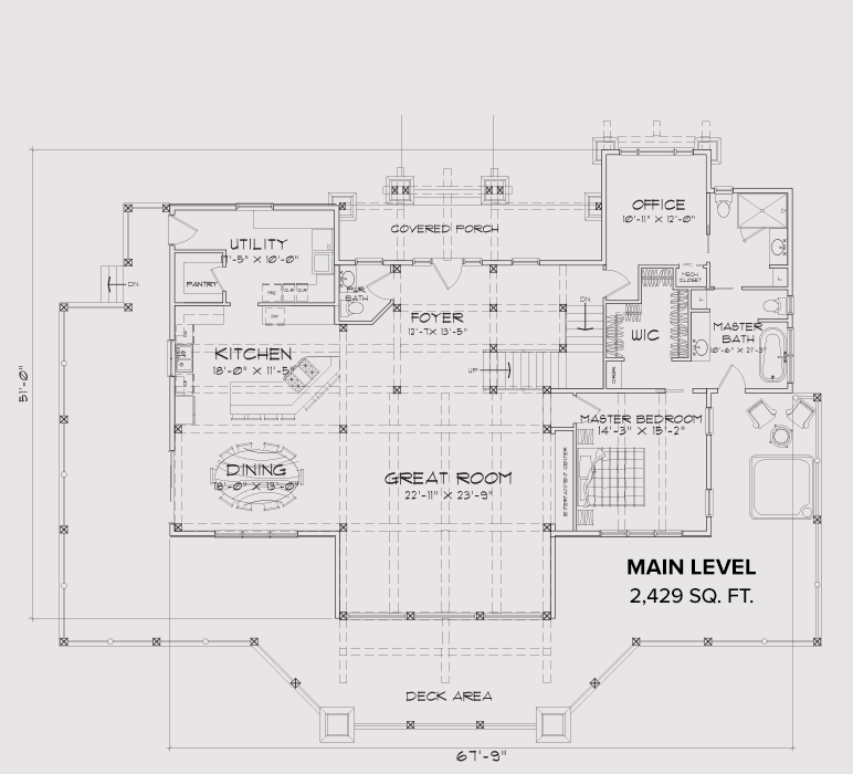 Possum Kingdom Main Floor Plan