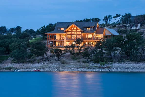 Timber frame Possum Kingdom Residence