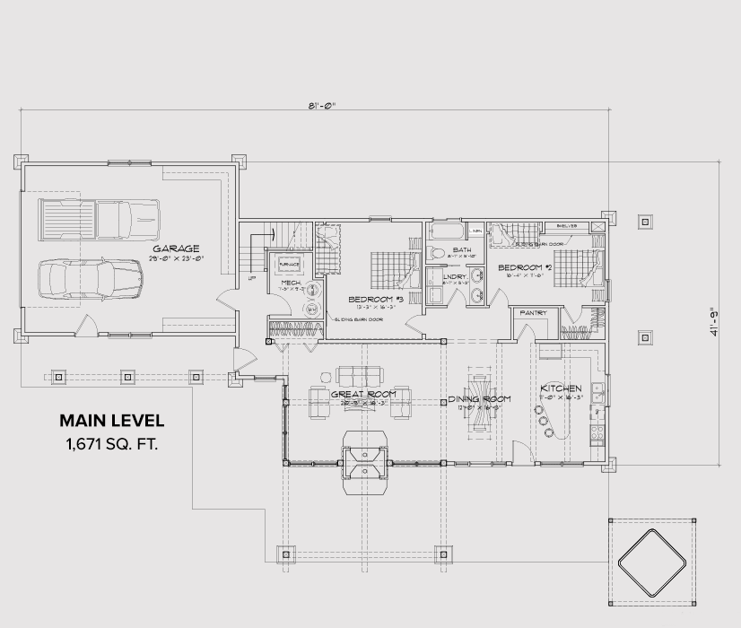 Rock Creek Main Floor Plan