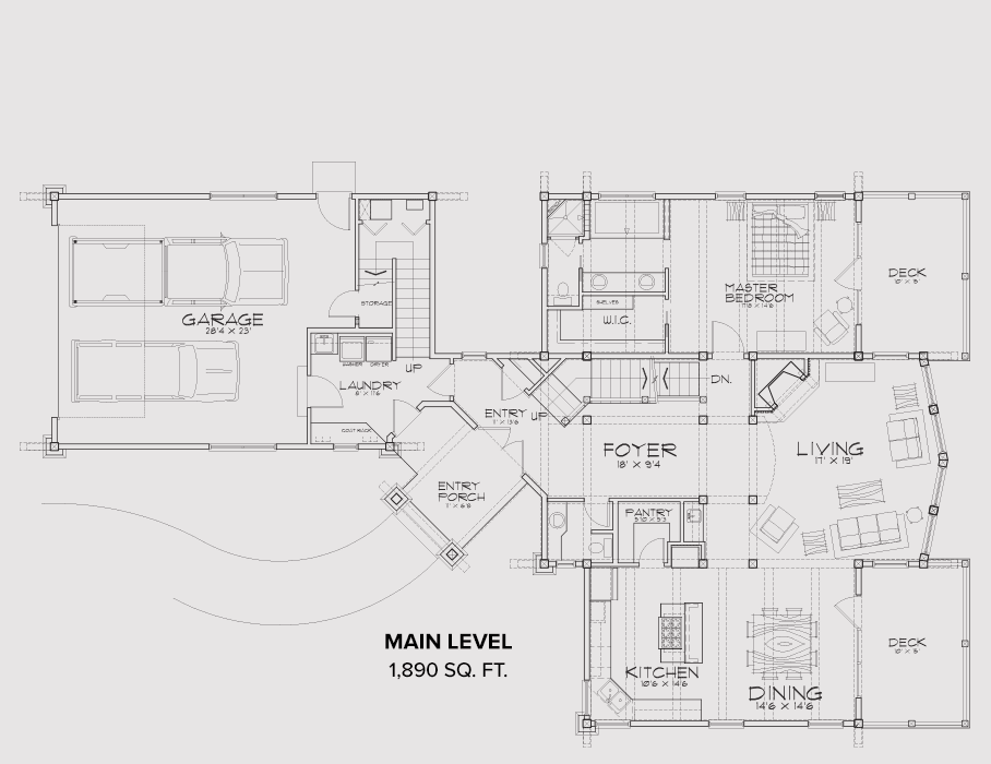 Sandpoint Main Floor Plan